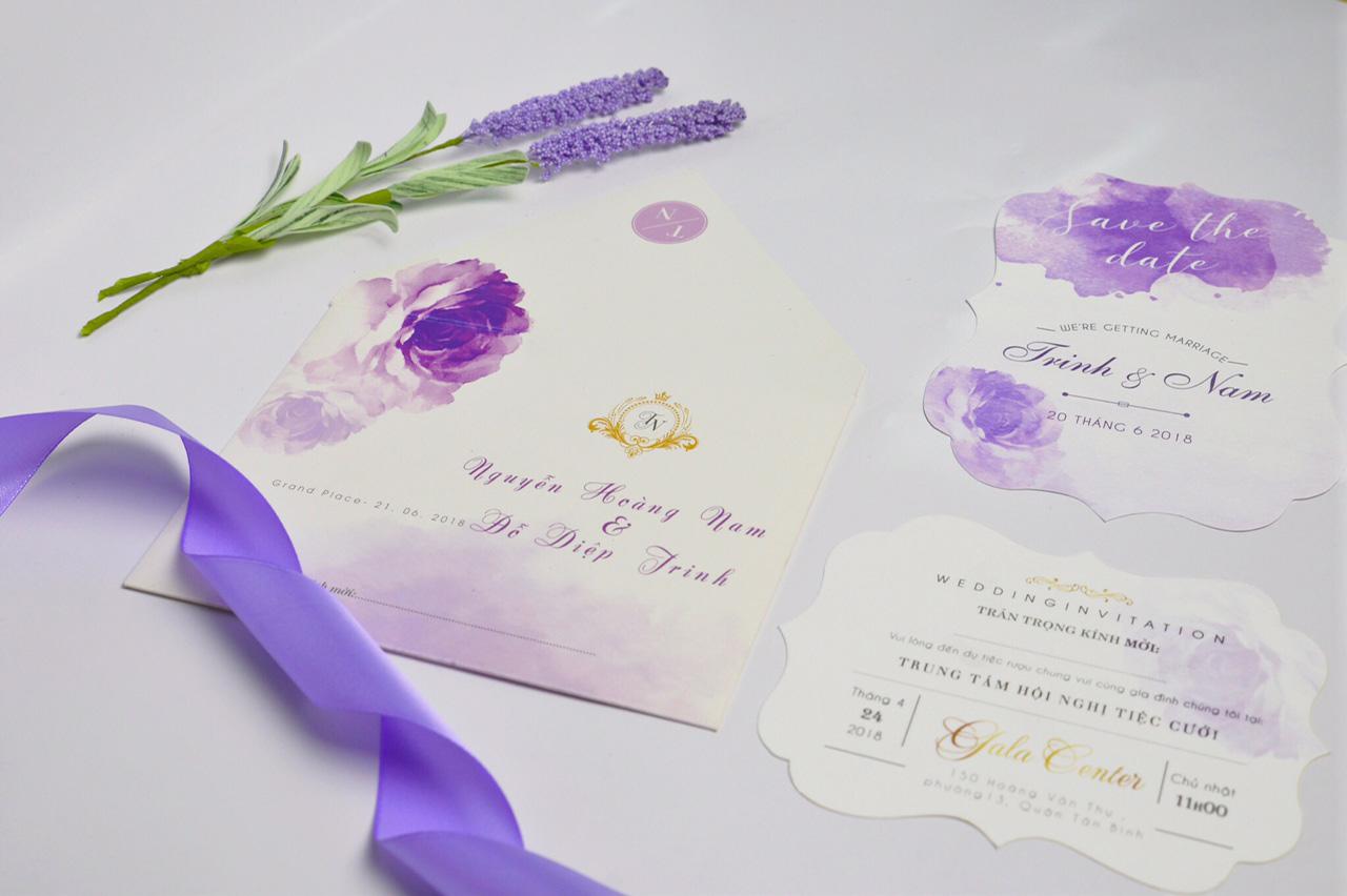 Thiệp cưới cho tháng 6_nhẹ nhàng và tinh tế