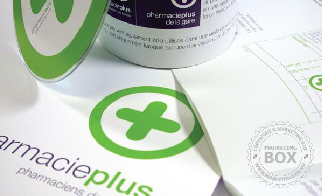 Thiết kế bộ nhận diện thương hiệu dược phẩm Pharmacy Plus